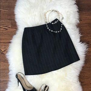 Kenar Studio - Grey Pinstripe Skirt